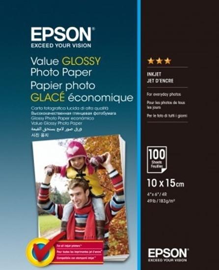 Afbeelding van Epson Value Glossy Photo Paper 183gr. 10x15cm 100 vel C13S400039 art.nr. 411270602