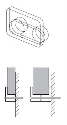 Afbeelding van Glasplaatklem transparant kunststof. Dikte tot 1,5mm 100 stuks art.nr. 2491