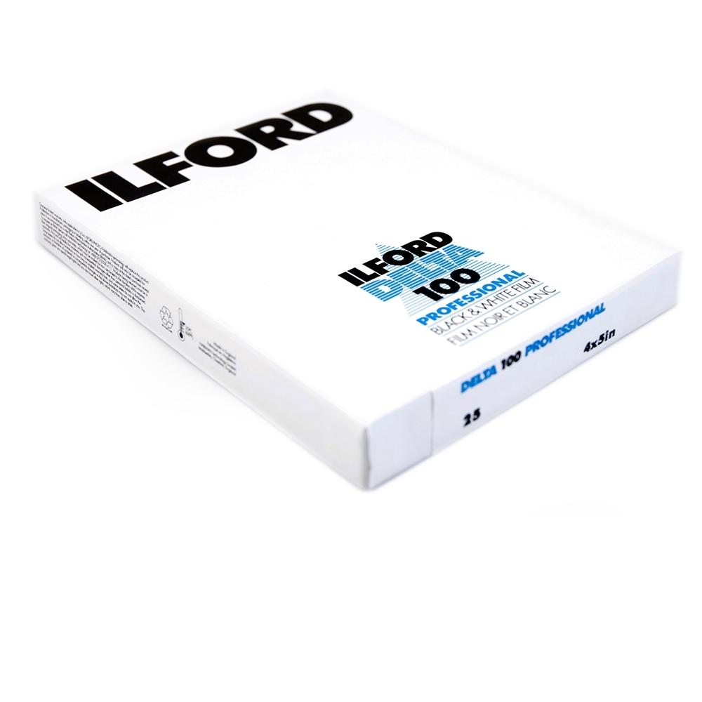 "Afbeelding van Ilford Vlakfilm zwartwit Delta 100 4x5"" 25 vel art.nr. 1743445"