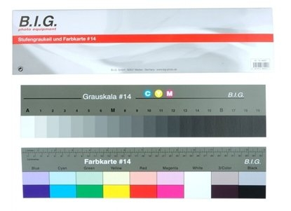 Afbeelding van Kodak B.I.G. Q-14 Color Separation Guide and Gray Scale Large art.nr. 56580