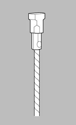 Afbeelding van ArtiTeq Staaldraad met Twister type 9.33150 lengte 150 cm art.nr. 28436