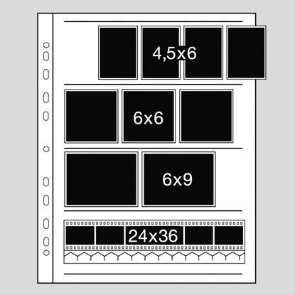 Kaiser negatiefbladen 6x6 acetaat 100 vel