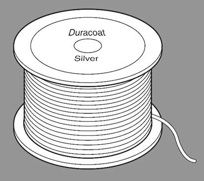 Duracoat-Silver Roestvrij Staaldraad 1,9mm dik 84 mtr lang