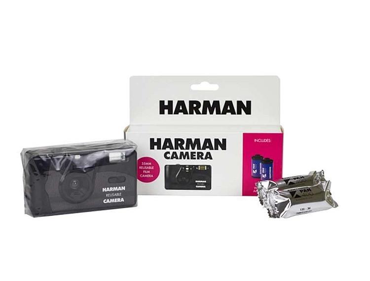 Ilford Harman reusable camera met flits inclusief 2 kentmere zwartwit films