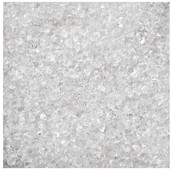 Deco schaafijs 2-4mm 1000ml helder glas