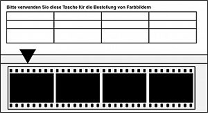 Negatiefstrook bestelmapje kleinbeeld (4vaks) 1000 stuks