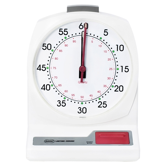 ADOX laboratoriumstopwatch dokaklok met analoog display