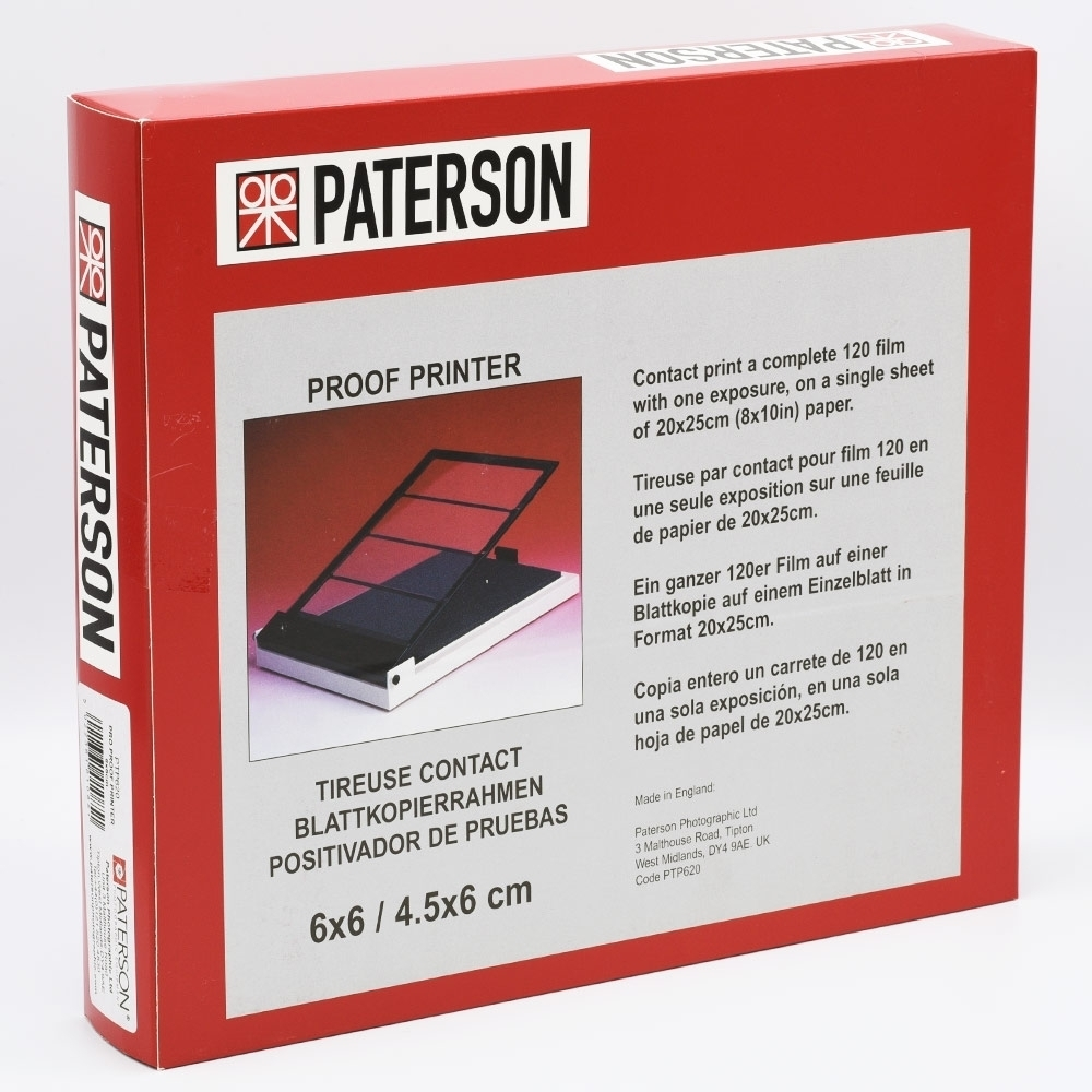 Paterson Contactraam 6x6 voor 4 stroken rolfilm PAT620