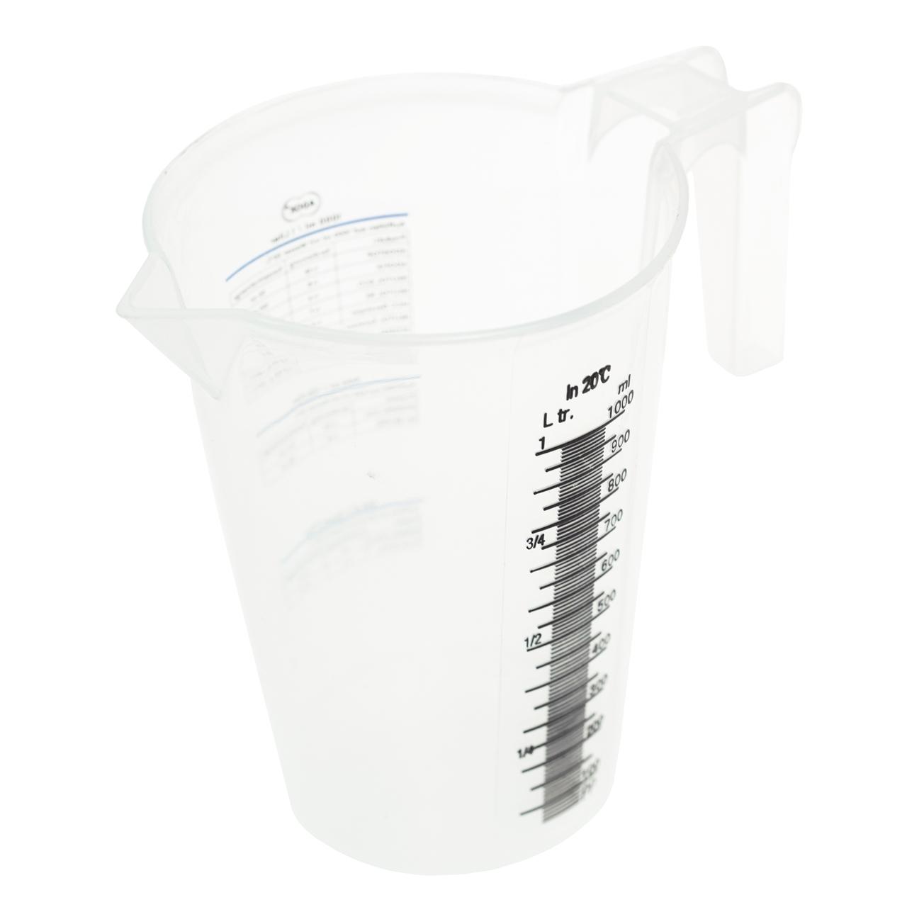 Adox maatbeker 1 liter bovenaanzicht