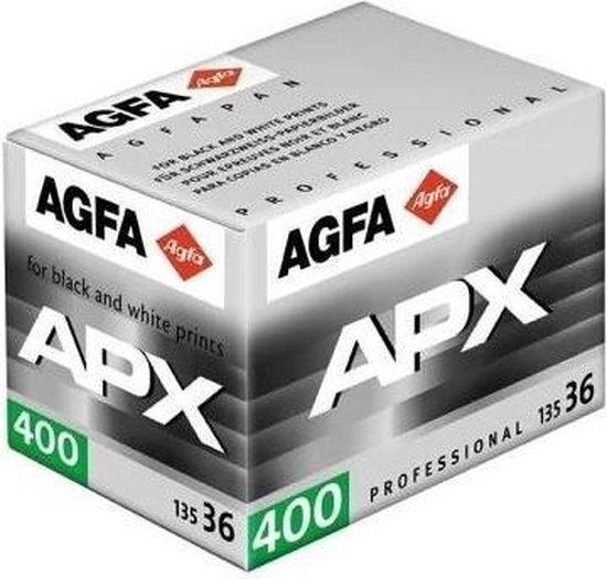 Agfa APX 400 kleinbeeld zwart wit film 135-36