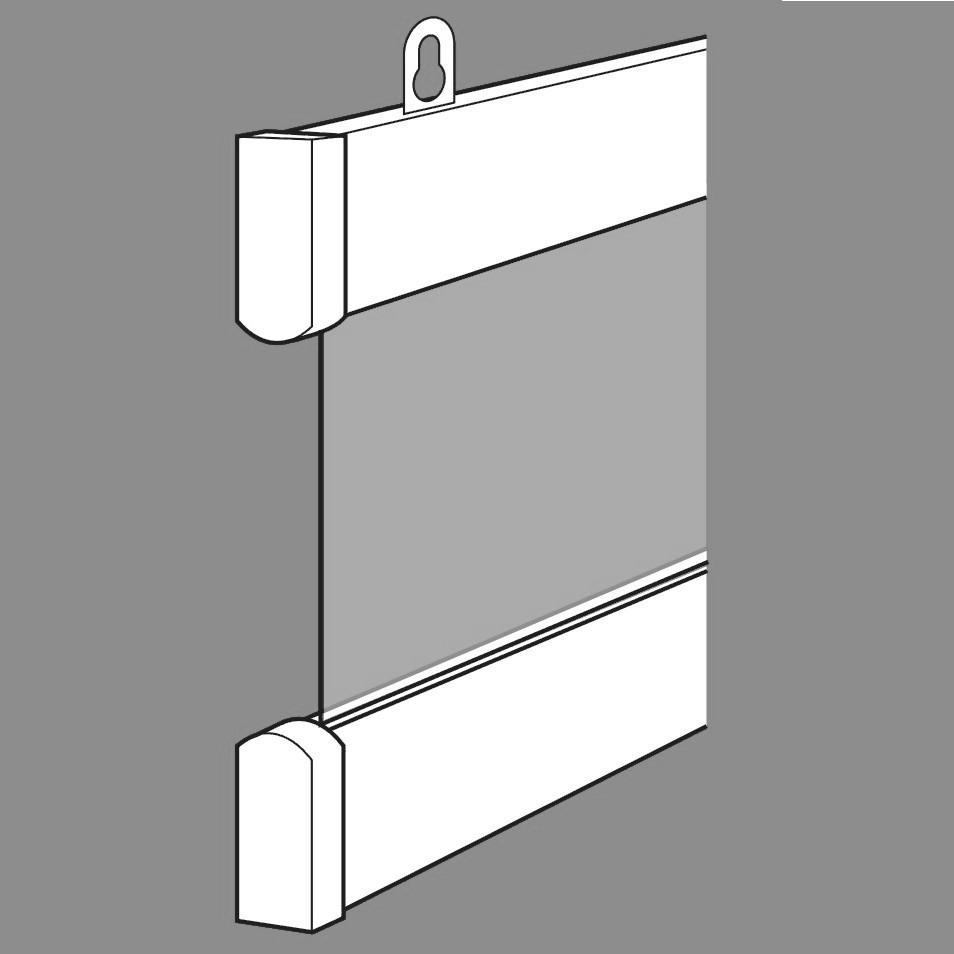 Postersnaps aluminium Posterstrips 1 set van 2 strips lengte 62cm