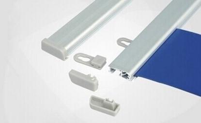 Postersnaps aluminium Posterstrips 1 set van 2 strips lengte 120,5cm