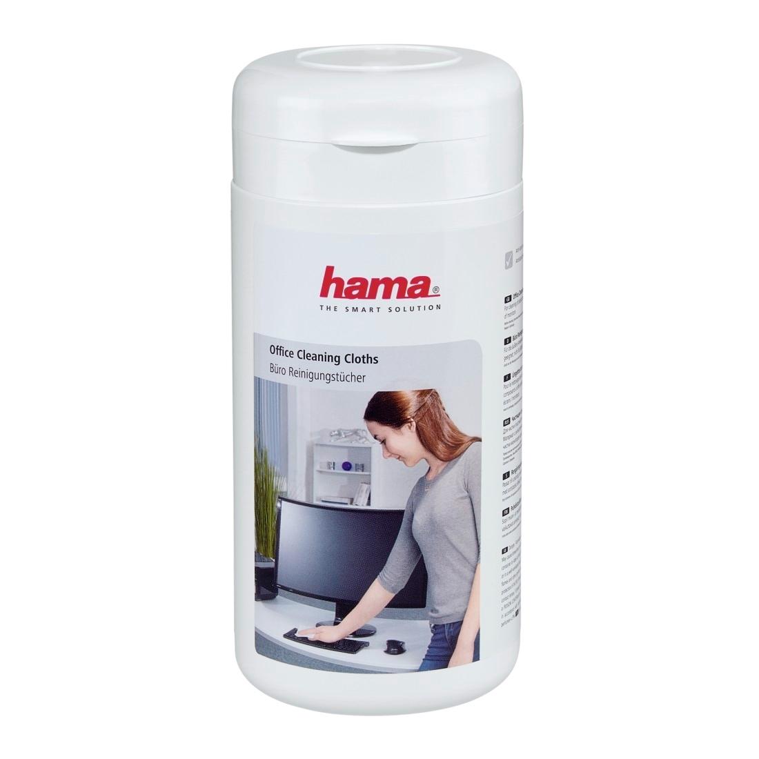 Hama kantoor reinigingsdoekjes 17x13cm 100 stuks in box