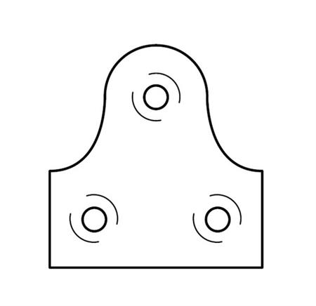 Afbeelding voor categorie Beveiligingsplaten voor houten lijsten