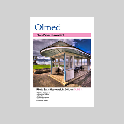 Olmec Inkjet A2 42x59,4cm cm Heavyweight Satin Zijdeglans 260 gr. 50 vel