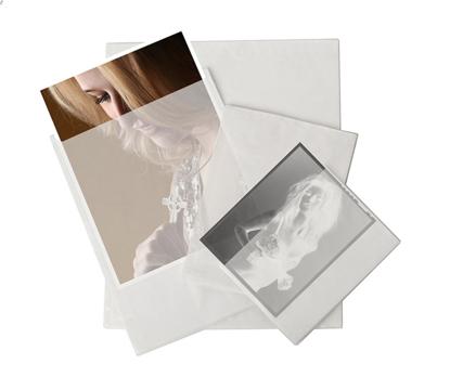Pergamijn enveloppen voor 20,3x25,4cm 100 stuks (lange zijde geopend)