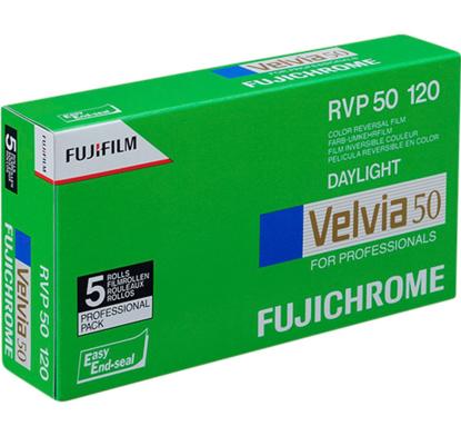 Fuji Fujichrome Velvia RVP 50 120 5 PACK