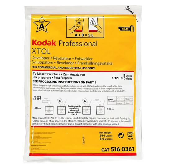 Kodak X-Tol zwartwit filmontwikkelaar voor 5 ltr