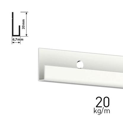ArtiTeq Classic Rail Wit lengte 200 cm